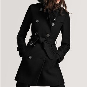 Burberry wool cashmere trench coat - black XS